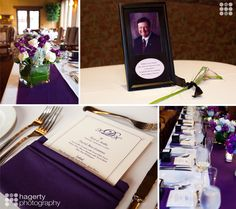 A tribute to dad that had passed...a wedding done beautifully in Purple