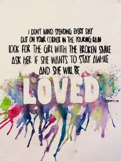 Maroon 5 She will be loved lyrics