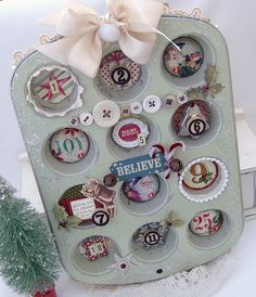 Altered Tin...this would be cute made with pictures of grandkids to give to grandparents