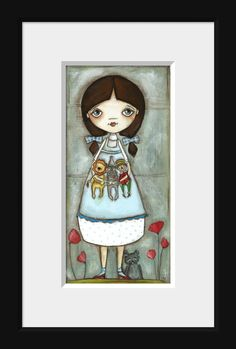 Print of my Original Folk ARt Painting  Dorothy and by DUDADAZE