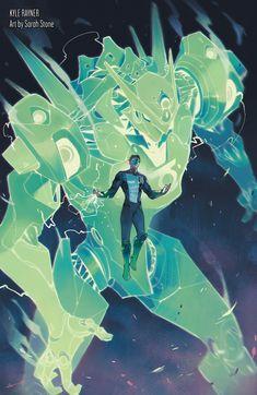 Superhero Characters, Dc Comics Characters, Dc Comics Art, Green Lantern Wallpaper, Gundam, Green Lantern Kyle Rayner, Green Lantern Comics, Character Art, Character Design