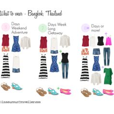 Excited about heading over to Bangkok? My recommendation on what to wear and what to pack! Glamourous Travelling with a carry-on bag. Find out more at GlamourousTraveller.com
