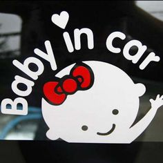 """Carro-Styling Carro Dos Desenhos Animados Adesivos de Vinil Do Decalque Do Bebê a bordo """"bebê no carro"""" janela Traseira Brisas Bonito Etiqueta Do Carro Frete Grátis"""