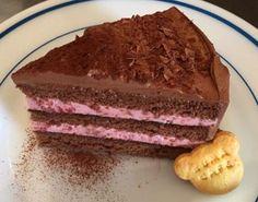 ラズベリーとチョコのショートケーキ