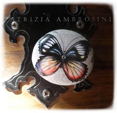 Handpainted Butterfly No7  rock painting by thestoneteller on Etsy, $26.00