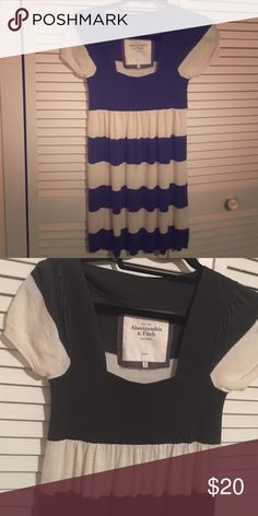 Sweater Dress Abercrombie and Fitch navy and white striped sweater dress ... Great condition Abercrombie & Fitch Sweaters