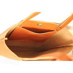 Bruine lederen tas Shopper tas Lederen draagtas door LeahLerner