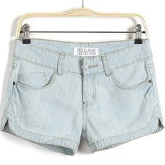 New Fashion Half-Waist Zipper Type Solid Color Straight Type Brief Design Casual Women's Shorts on buytrends.com
