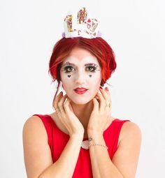 Angling to become the Queen of Hearts this Halloween? We've got a tutorial for you -- using makeup you already own!