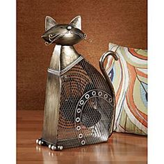 @Overstock - Cool your home with a refreshing metallic sculpture cat fan  Houseware item has a 7-inch copper-spun motor   Eye-catching fan measures 17 inches long x 21 inches wide x 11 inches thick http://www.overstock.com/Home-Garden/Metallic-Figurine-Cat-Fan/4009778/product.html?CID=214117 Add to cart to see special price
