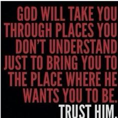 GOD is in Control just trust HIM