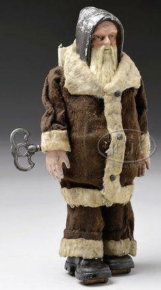 IVES CLOCKWORK WALKING SANTA. - James D. Julia, Inc.Sold $2963.00
