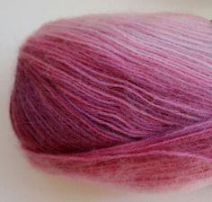 Wool Mohair Acrylic yarn  purple 1 Skeins skein by yarnsupplies, $6.00