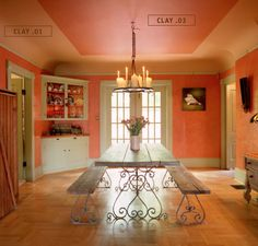 for my dining room: how to paint with coved ceilings.  I LOVE these color choices.