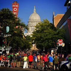 What a perfect day for Ironman Wisconsin in Madison. State Street was just buzzing. Ironman Wisconsin, Madison Wisconsin, State Street, University Of Wisconsin, Selling Real Estate, A Perfect Day, Triathlon, Travel, Triathalon
