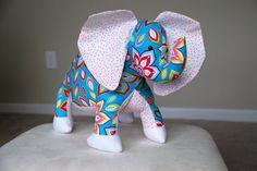 Elephant Plush  Stuffed Elephant Toy  Stuffed by theMeticulousWhim
