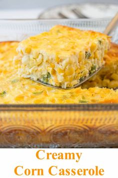 Could You Eat Pizza With Sort Two Diabetic Issues? This Creamy Corn Casserole Is Filled With Naturally Sweet Corn, Cheese And Jalapenos Baked In A Silky Custard. It's Made From Scratch With No Cornbread Mix. Creamed Corn Casserole Recipe, Creamy Corn Casserole, Vegetable Casserole, Casserole Recipes, Corn Casserole Jiffy, Mexican Corn Casserole, Cornbread Casserole, Corn Dishes, Vegetable Dishes