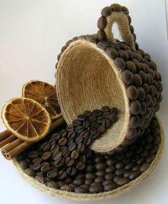 Indrazneste si realizeaza obiecte decorative din boabe de cafea!