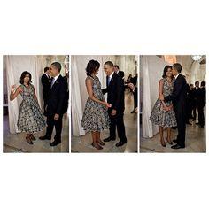 FLOTUS & POTUS   Michelle Obama in Saint Valentin having fun with hubby President Barack Obama.