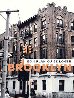 Où se loger à Brooklyn Greenwich Village, North And South, Brooklyn, Destinations, New York City, Broadway Shows, America, How To Plan, Travel