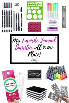 All of my favorite journaling supplies in ONE spot! I keep this updated often, so check back for my favorites!