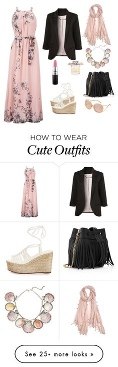 """Hijab summer cute pinky outfit"" by ranya-ket on Polyvore featuring Chan Luu, Paolo Costagli, Chloé, Whistles and MAC Cosmetics"