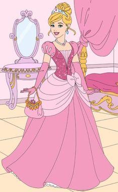 Cinderellas gown 02 by unicornsmile on DeviantArt All Disney Princesses, Disney Princess Drawings, Disney Princess Pictures, Disney Princess Fashion, Disney Princess Dresses, Disney Dress Up, Disney Outfits, Disney Art, Walt Disney