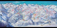 Pistekaart Serfaus - Fiss - Ladis Snow Skiing, Future Travel, Alps, Austria, Mount Everest, Places Ive Been, Vacation, Mountains, Painting
