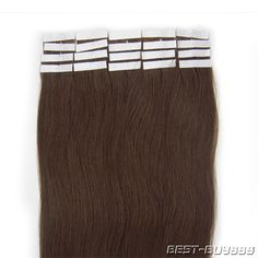New Arrival 18inch Asian Tape in Remy Human Hair Extensions Color04 medium brown