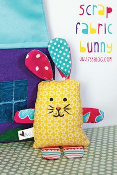 seven thirty three - - - a creative blog: Scrap Fabric Bunny Softie Tutorial