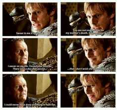 Uther doesn't really deny what Arthur is saying. Which makes me wonder, does Arthur really miss that, or does he want to forgive his father so much that he just ignores that? Regardless of which it is, I think Arthur loved Uther more than Uther deserved sometimes.
