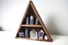Geometric shelf mountain shelf crystal shelf triangle shelf