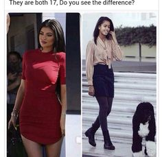 Yes. One has a dog and enjoys it will the other doesn't even notice the dog taking up her photo space. Lol. Jk. Yep. I get it.
