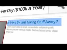 How to Make $300+ Per Day by Just Giving Stuff Away!