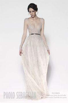 Delicate Wedding Dress by Paolo Sebastian by Tetiana