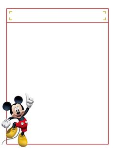 Mickey jumping with title box - Project Life Disney Journal Card - Scrapbooking…
