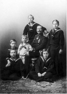 Kaiser Wilhelm and his sons.