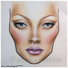 Beautiful face chart wish I was that good More