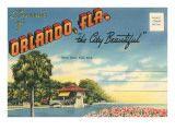 Postcard Orlando, Florida poster vintage travel
