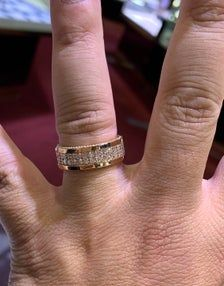 14k Rose Gold Mens Diamond Eternity Band Wedding Ring Etsy In 2021 Eternity Band Diamond Gold Rings Fashion Etsy Wedding Rings