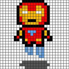 2d pixel art, iron man