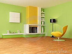 Wandgestaltung Mit Farbe Wohnzimmer Grün - Http ... Wohnzimmer Grun Orange