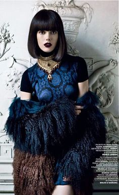 """Frida Gustavsson in """"Winter Lady"""" Photographed By Patrick Demarchelier v"""