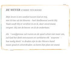 De wever ( Corrie ten Boom)