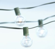 these globe string lights look fantastic all year round, with every holiday