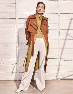 EDITORIAL: Nadja Bender in Porter Magazine #21 Summer Escape 2017 by Jason Kibbler — Layering — Photography: Jason Kibbler,  Model: Nadja Bender,  Styling: Morgan Pilcher,  Hair: Hiro & Mari,  Make-Up: Justin Purdue,  Set Design: Juliet Jernigan.