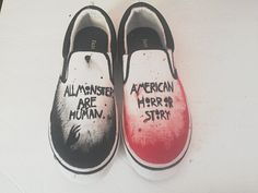 American Horror Story Shoes by Destroymyink on Etsy, $20.00