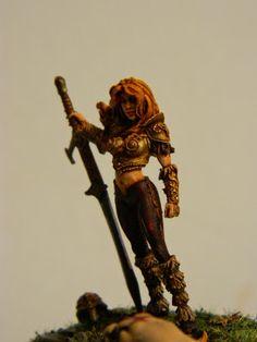 Mike's Modeling: Raen of Rannoch, Giant Hunter, 32mm