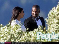 Kanye West Smiles Sweetly at His Bride, Kim Kardashian: Photo : People.com