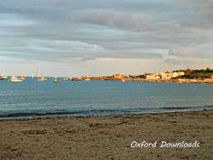 Swanage Beach Dorset Beach Art Boat Print by OxfordDownloads